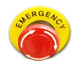 Interruptor de emergência para as impressoras da série BR-1800