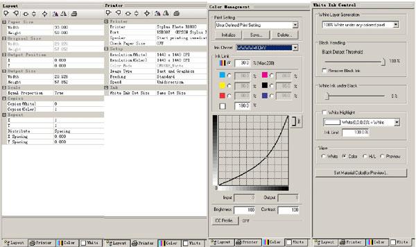 parameter settings