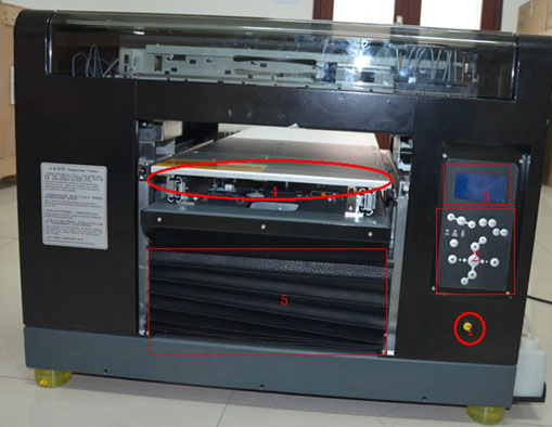 br 1800 flatbed printer Front view