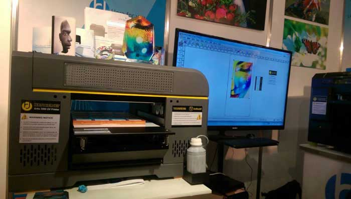 Brotherjet artis3000 uv printer at Fespa 2015