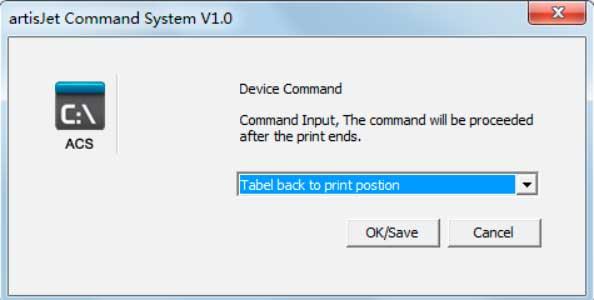artisJet command system